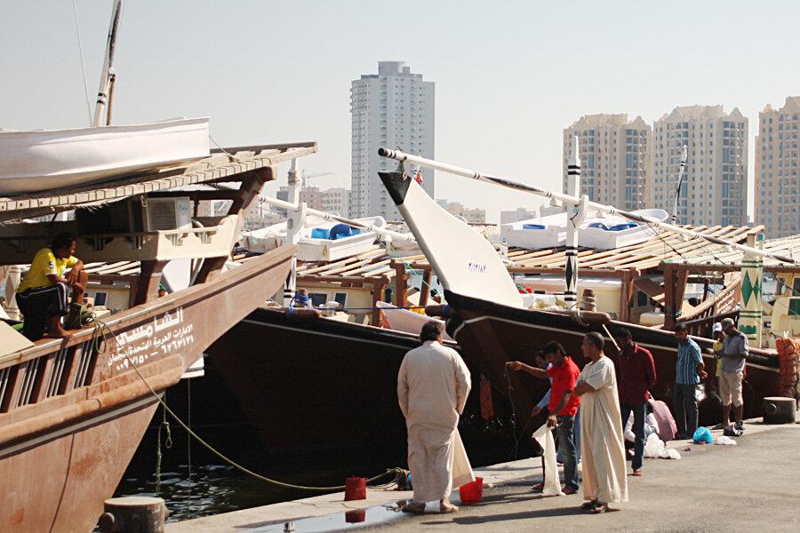 Аджман: рыбный рынок в ОАЭ