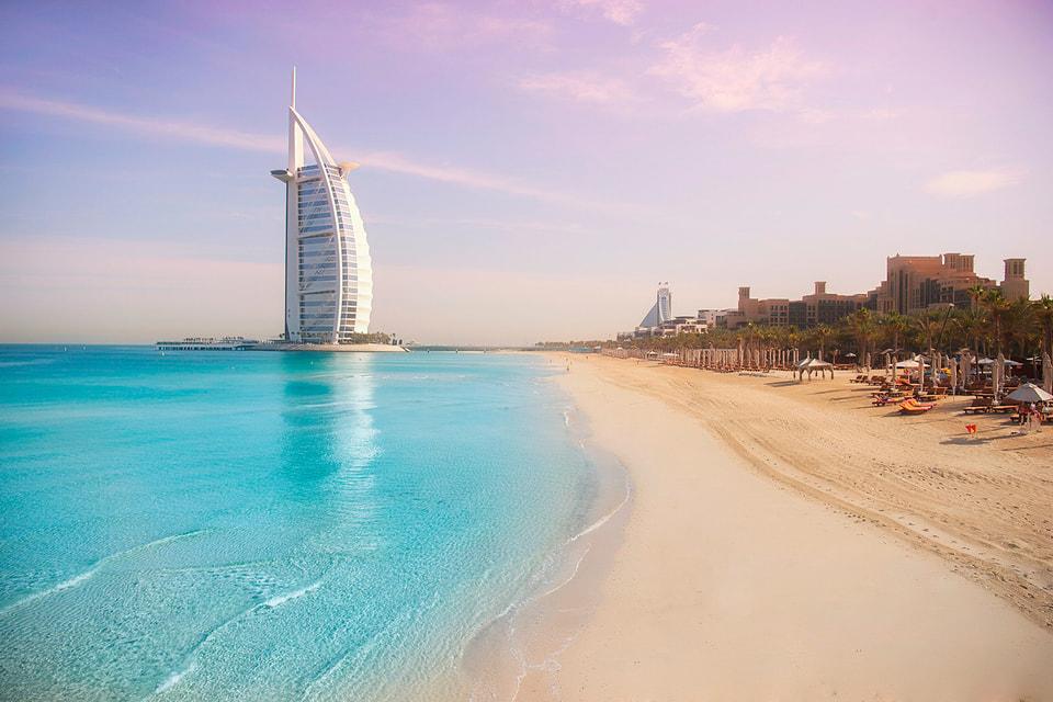 Фото морского побережья в Дубае