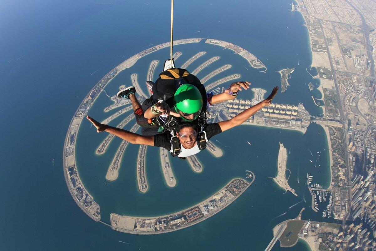 Фото прыжка с парашютом
