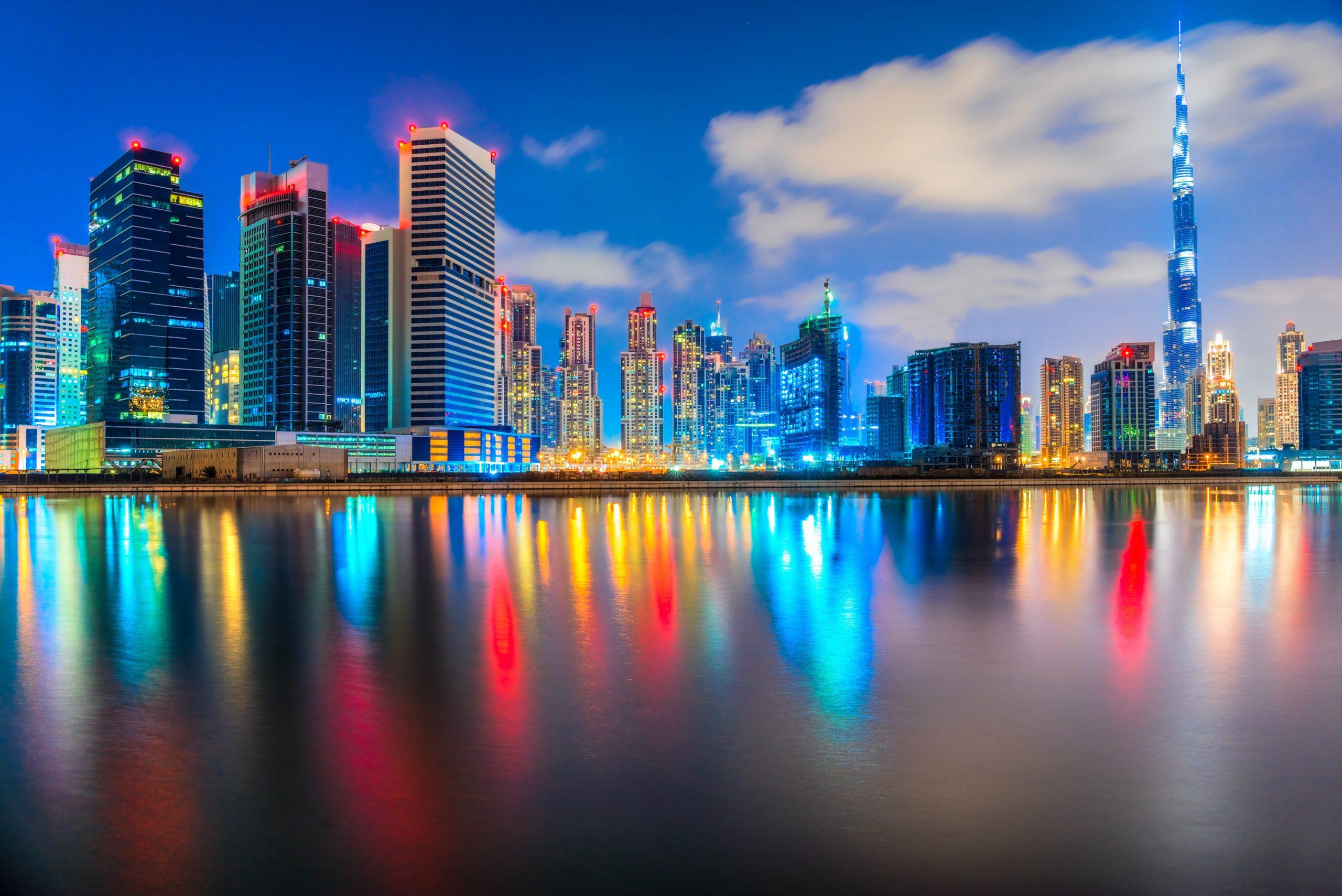 Фото Дубая ночью