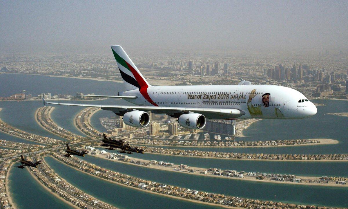 Фото самолета в Дубай