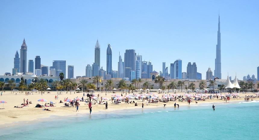 Пляжи Дубая фото