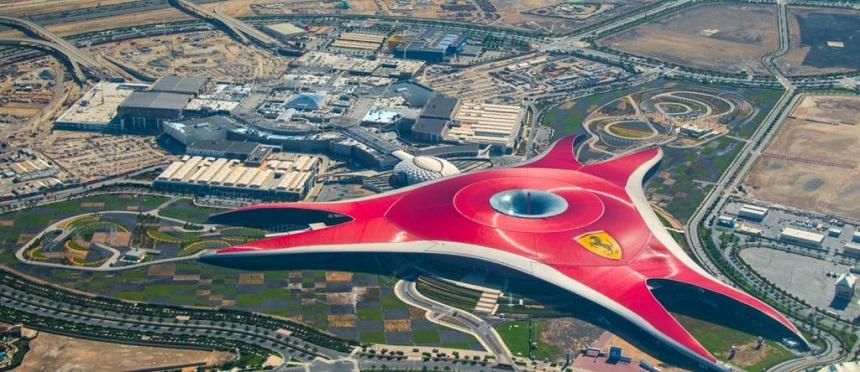 Ferrari World вид сверху