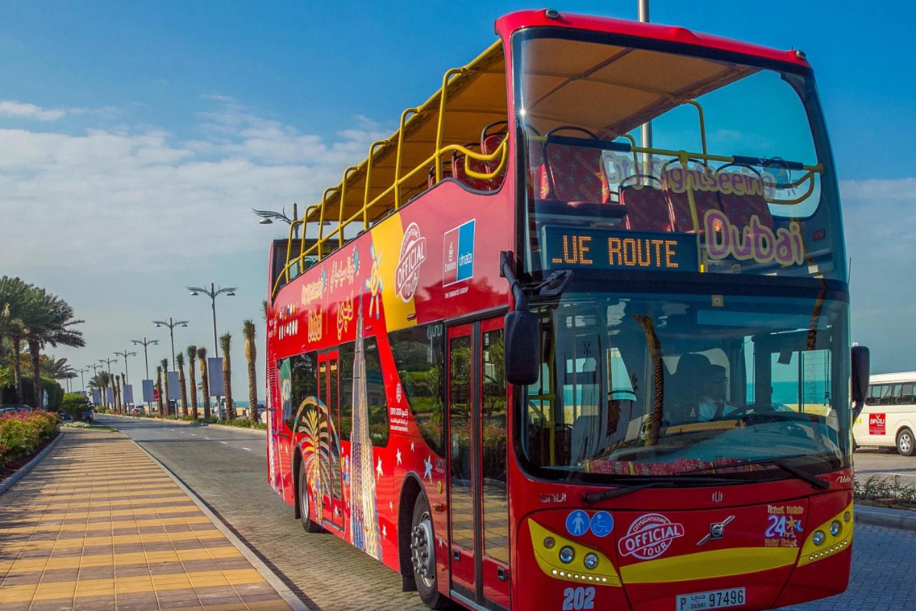 Фото автобуса в Дубае