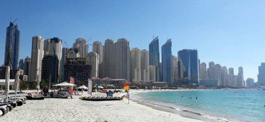 Обзор пляжа Марина Бич в Дубае