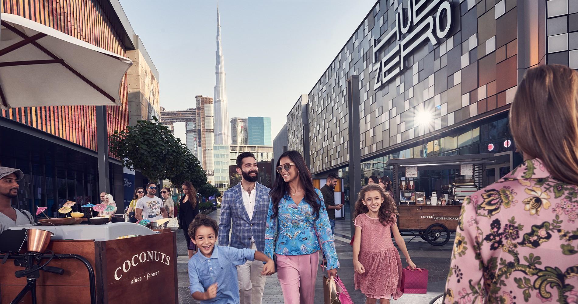 Фото торгового квартала в Дубае