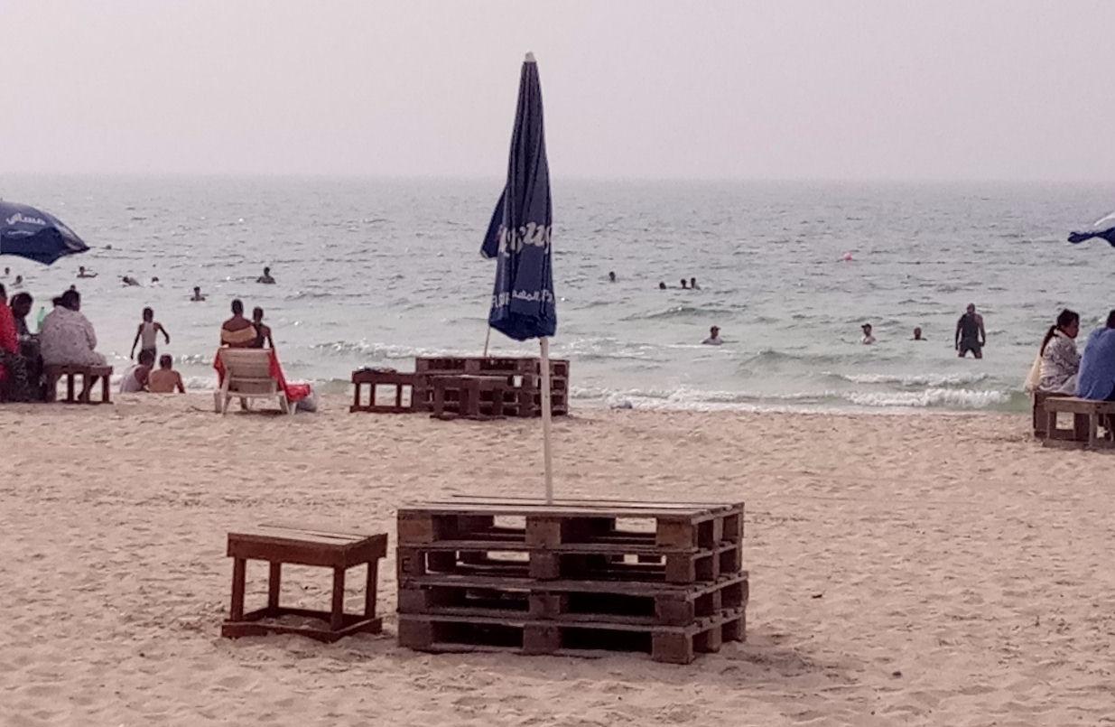 Фото туристов на пляже Аль-Хан